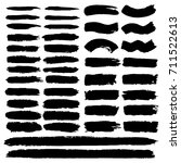 set of hand painted black ... | Shutterstock .eps vector #711522613