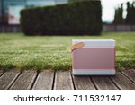 cool pink portable small... | Shutterstock . vector #711532147