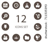 set of 12 systematization icons ... | Shutterstock .eps vector #711535393