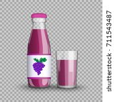 grape juice in a transparent... | Shutterstock .eps vector #711543487