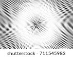black and white dotted halftone ... | Shutterstock .eps vector #711545983