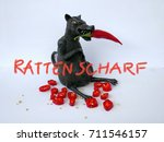 black rat with red chili  ... | Shutterstock . vector #711546157