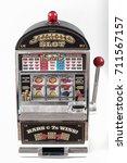 Small photo of slot machine isolated, casino object 777 big win