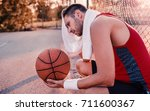 basketball. young basketball... | Shutterstock . vector #711600367