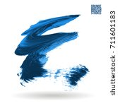 blue brush stroke and texture.... | Shutterstock .eps vector #711601183