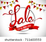 3d english calligraphy  sale... | Shutterstock .eps vector #711603553