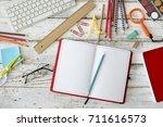 back to school concept | Shutterstock . vector #711616573