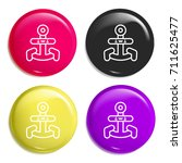 anchor multi color glossy badge ...