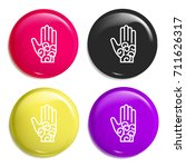 om multi color glossy badge...