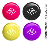 tiles multi color glossy badge...