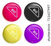 bio multi color glossy badge...