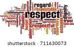 respect word cloud concept.... | Shutterstock .eps vector #711630073