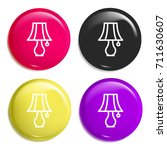 lamp multi color glossy badge...