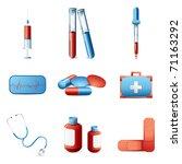 illustration of medical icon... | Shutterstock .eps vector #71163292