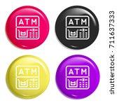 atm multi color glossy badge...
