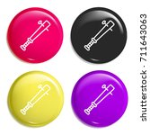 baseball bat multi color glossy ...