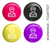 player multi color glossy badge ...