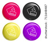 wallet multi color glossy badge ...