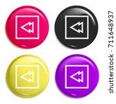 rewind multi color glossy badge ...