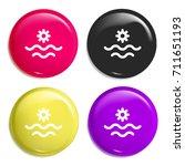 sea multi color glossy badge...