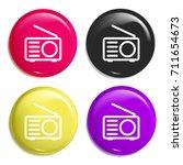 radio multi color glossy badge...