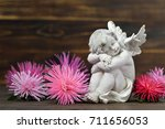 Guardian Angel And Flowers