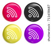 rss multi color glossy badge...