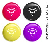 wifi multi color glossy badge...
