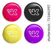 vk multi color glossy badge...