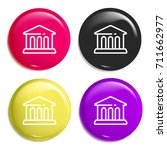 museum multi color glossy badge ...