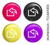 reply multi color glossy badge...