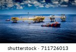 rig gas in the gulf of thailand | Shutterstock . vector #711726013