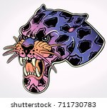 panther's portrait made in an... | Shutterstock .eps vector #711730783