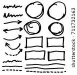 doodle infographic  elements... | Shutterstock .eps vector #711732163