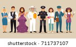 set of people with different... | Shutterstock .eps vector #711737107