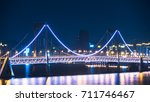 beautiful illuminated steel... | Shutterstock . vector #711746467
