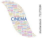 cinema. word collage on white... | Shutterstock .eps vector #71175184
