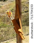 Small photo of bow quiver, arrows