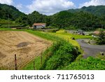 rice terraces and private... | Shutterstock . vector #711765013