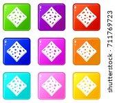 tofu fresh block icons of 9...   Shutterstock . vector #711769723