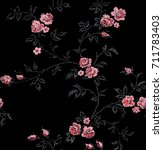 cute floral pattern in the... | Shutterstock .eps vector #711783403