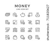 set line icons of money... | Shutterstock .eps vector #711820627