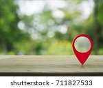 map pin location button on...   Shutterstock . vector #711827533