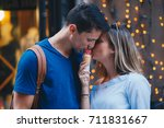 young and in love  | Shutterstock . vector #711831667