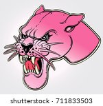 panther's portrait made in an... | Shutterstock .eps vector #711833503