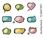 embroidery empty colorful... | Shutterstock .eps vector #711837397