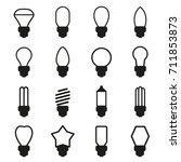 vector of light bulb icon set | Shutterstock .eps vector #711853873