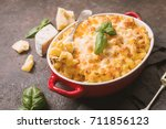 mac and cheese  american style...   Shutterstock . vector #711856123
