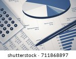 financial accounting stock... | Shutterstock . vector #711868897