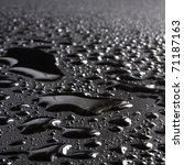 water drops on a metal surface...